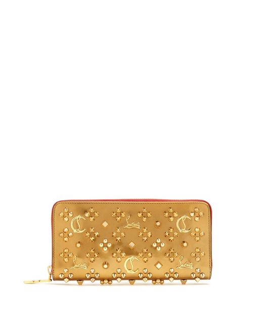 Christian Louboutin - Metallic Panettone Embellished Leather Wallet - Lyst