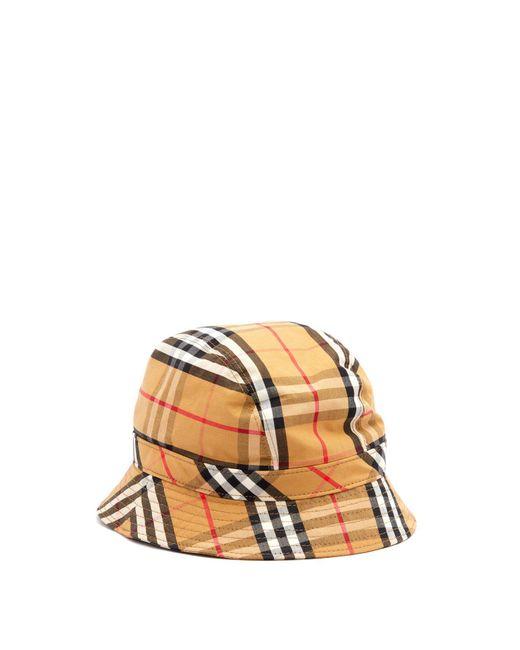 Burberry - Multicolor Vintage Check Cotton Bucket Hat for Men - Lyst