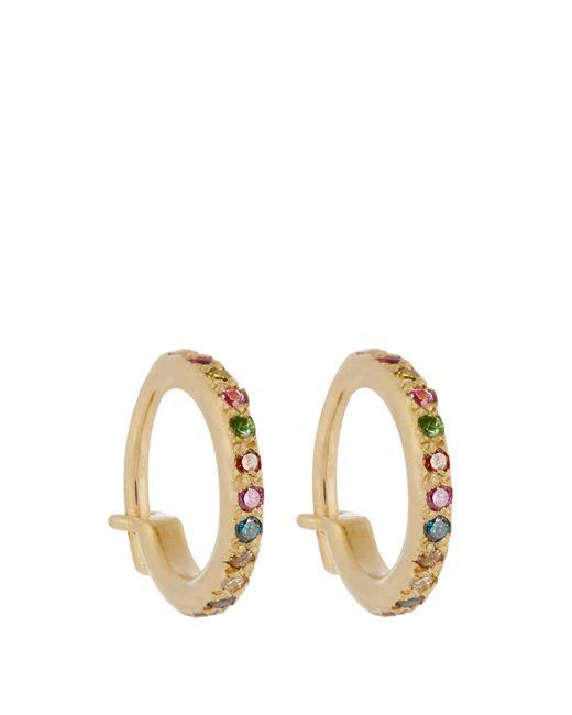 Ileana Makri   Multicolor Diamond, Semi-precious Stone & Gold Earrings   Lyst
