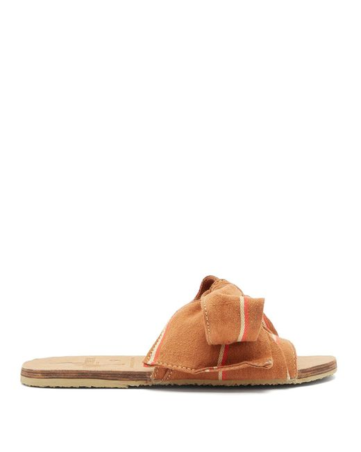 Brother Vellies - Brown X Ace & Jig Burkina Slides - Lyst