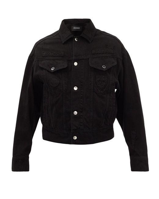 メンズ Neil Barrett オーバーサイズ デニムジャケット Black