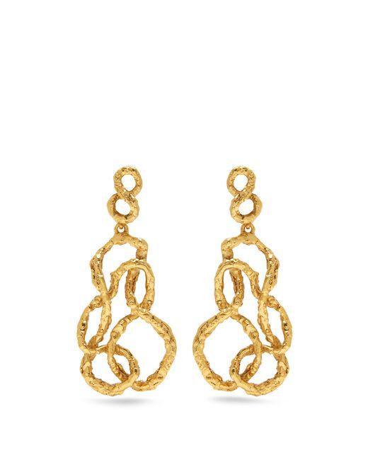 Oscar de la Renta | Metallic Entangled Drop Earrings | Lyst