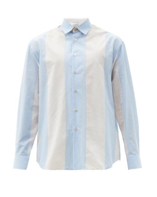 メンズ Paul Smith ストライプ コットンポプリンシャツ Blue