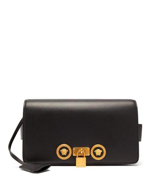 Versace - Black Medusa Plaque Leather Belt Bag for Men - Lyst ... d516e36dbb405