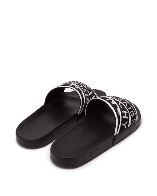 fcdc2e35131 ... Givenchy - Black Logo Strap Sliders for Men - Lyst ...