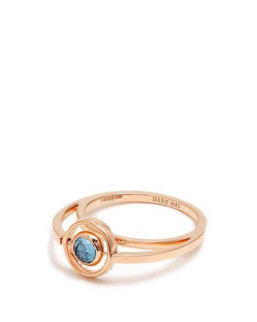 Marie Mas Amethyst, topaz & pink-gold ring
