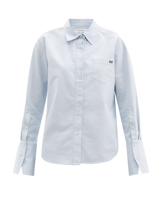 FRAME ブラッシュドコットンシャツ Blue