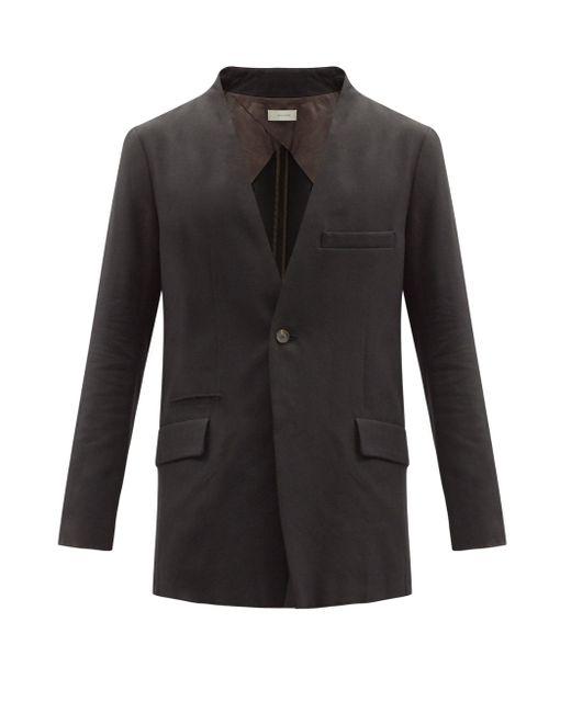 メンズ Bed J.w. Ford コットンカシミアツイル シングルジャケット Black