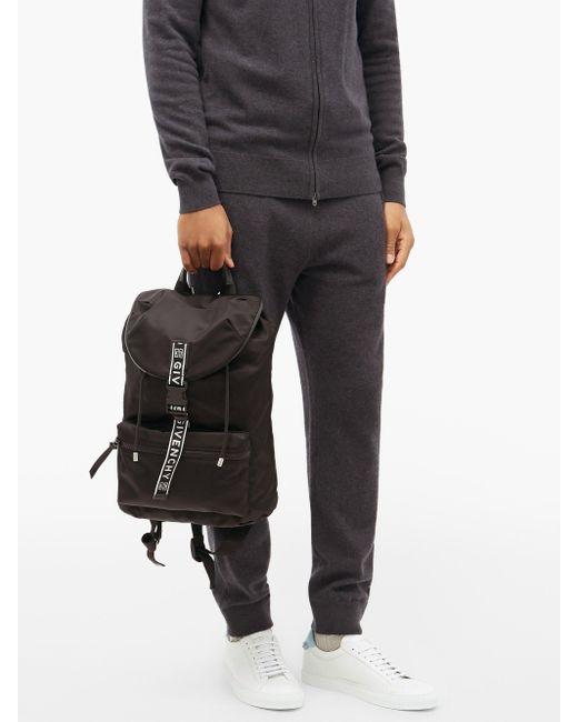 メンズ Givenchy 4g テクニカルバックパック Black