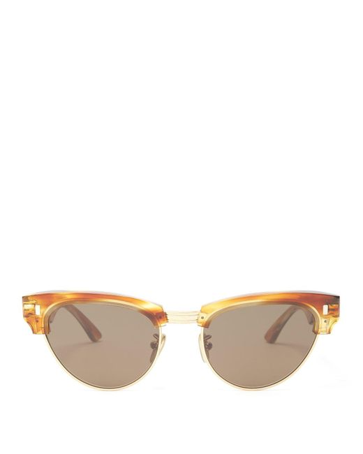Céline Multicolor Round Tortoiseshell Acetate Sunglasses