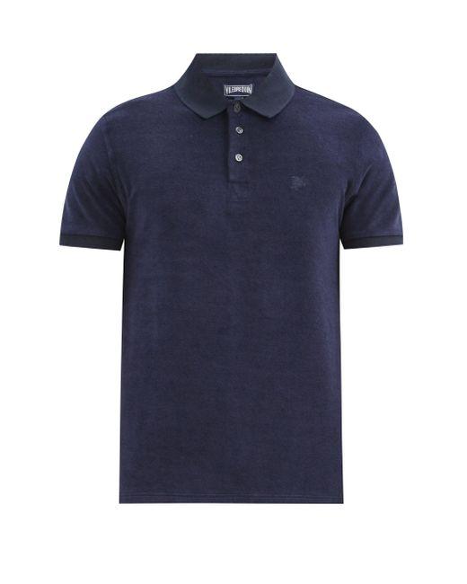 メンズ Vilebrequin コットンブレンドテリーポロシャツ Blue