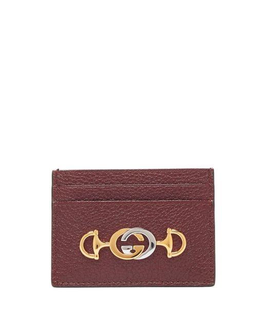 Gucci グッチ ズゥミ グレインレザーカードケース Purple