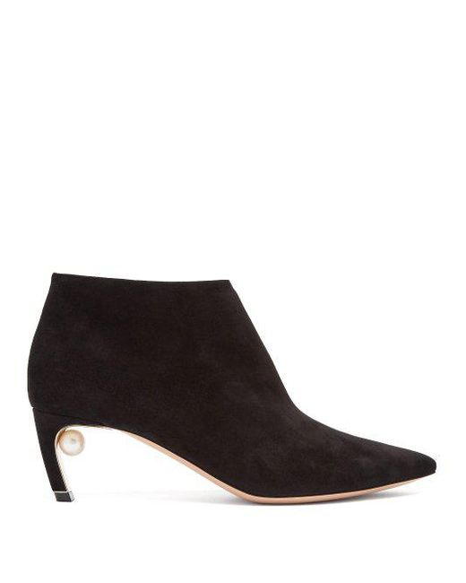 Nicholas Kirkwood Black Suede Mira Pearl Boots cheap sale largest supplier lowest price online cheap new styles XhOA1yku