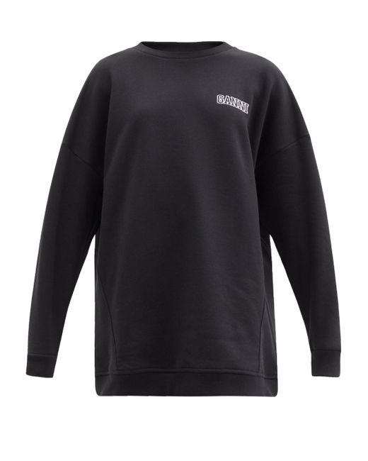 Ganni ソフトウェア リサイクルコットンブレンド スウェットシャツ Black