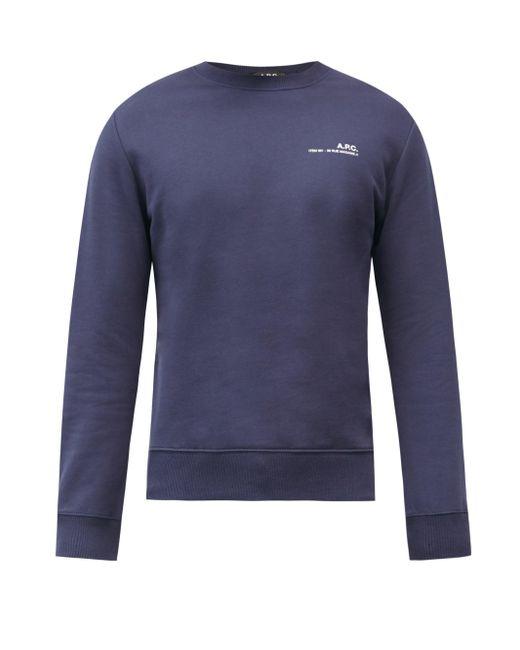 メンズ A.P.C. アイテム コットンスウェットシャツ Blue