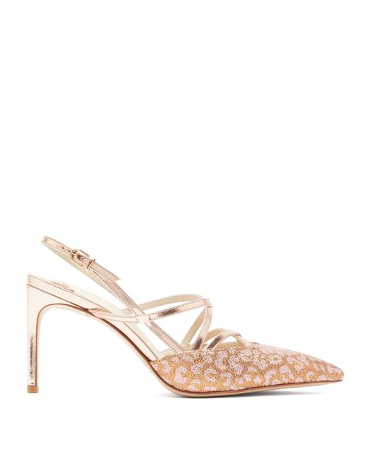 Sophia Webster Multicolor Odette Leopard Jacquard Mirrored Leather Sandals