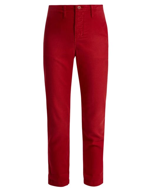The Great | Red The Carpenter Low-slung Trousers | Lyst