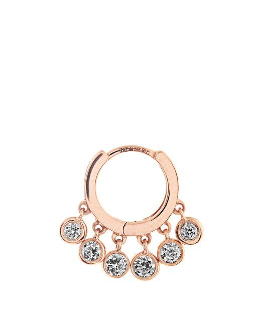Jacquie Aiche Multicolor Diamond & Rose-gold Earring