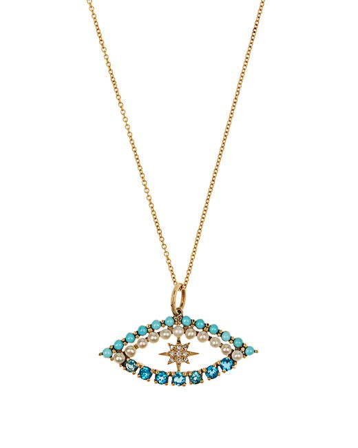 Ileana Makri - Multicolor Diamond, Apatite, Turquoise & Pearl Necklace - Lyst
