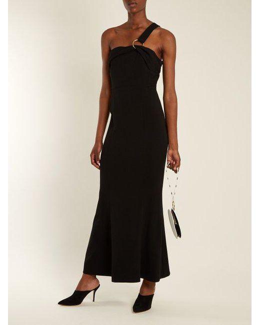 One-shoulder asymmetric crepe gown Diane Von F hBAWXfKM