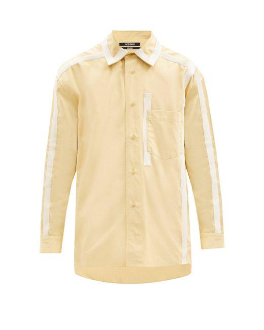 メンズ Jacquemus グログランテープ コットンリップストップシャツ Multicolor