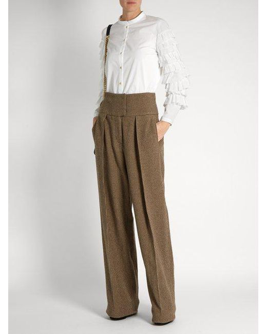 Austin hounds-tooth wide-leg trousers Preen