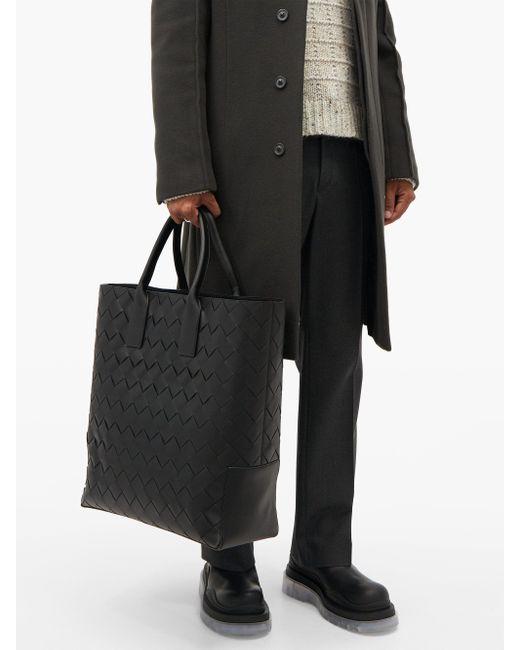 Bottes en cuir à semelle crantée BV Tire Bottega Veneta pour homme en coloris Black
