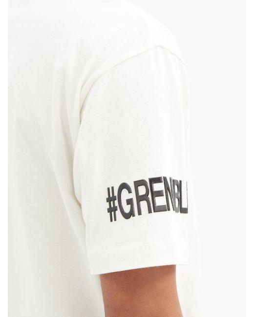 メンズ 3 MONCLER GRENOBLE ロゴプリント コットンtシャツ White