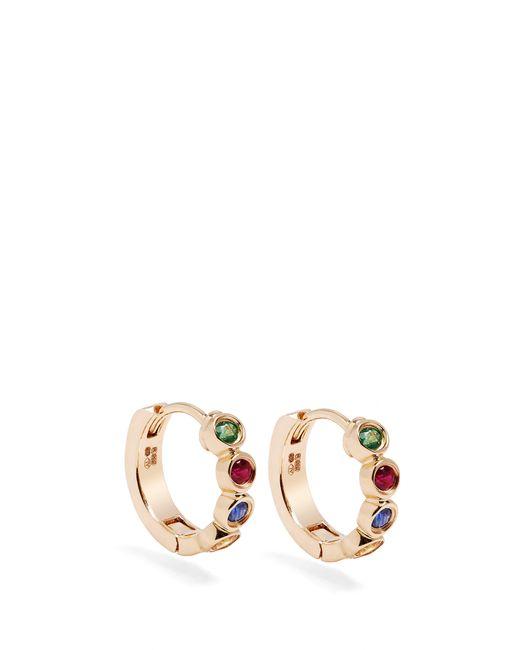 Alison Lou - Metallic Sapphire, Ruby, Emerald & Gold Twister Earrings - Lyst