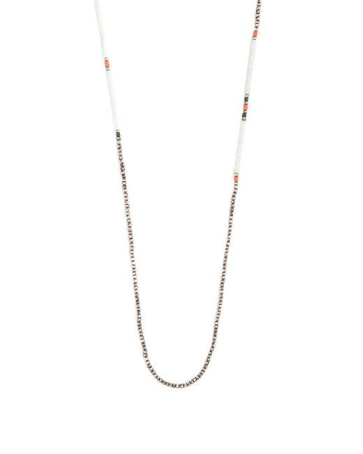 M. Cohen - Metallic Bead-embellished Silver Necklace for Men - Lyst