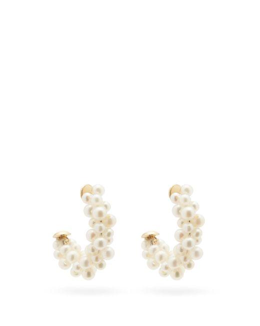 Yvonne Léon Multicolor Lady Pearl 18kt Gold Earrings