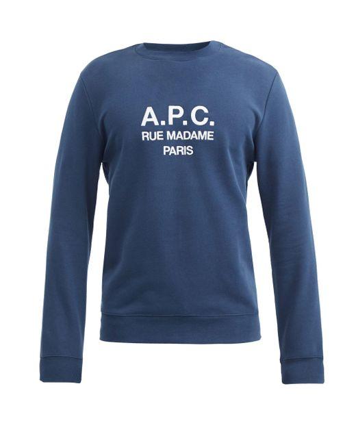 メンズ A.P.C. ルーファス コットンスウェットシャツ Blue