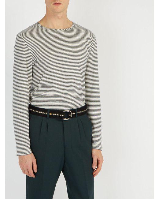 5053c0839be1 ... Guanabana - Black Patterned Woven Belt for Men - Lyst ...