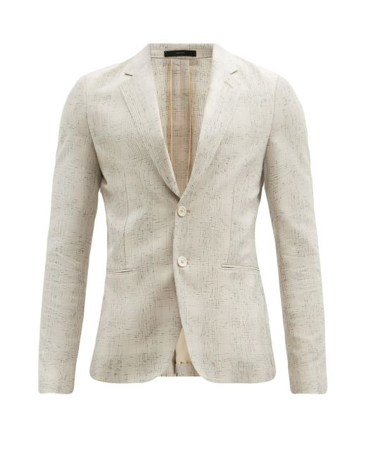 メンズ Paul Smith フェードチェック シングルスーツジャケット Natural