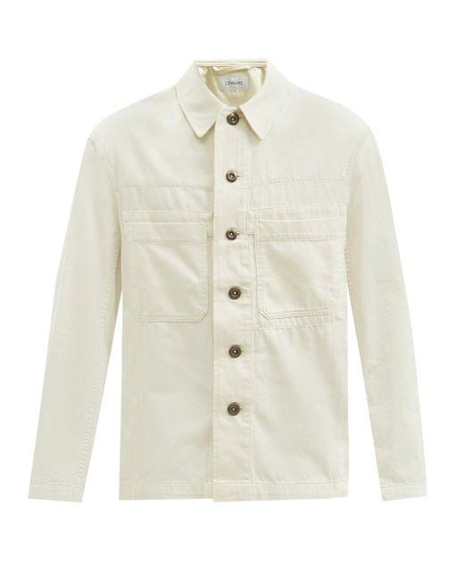 メンズ Lemaire パッチポケット デニム オーバーシャツ Multicolor