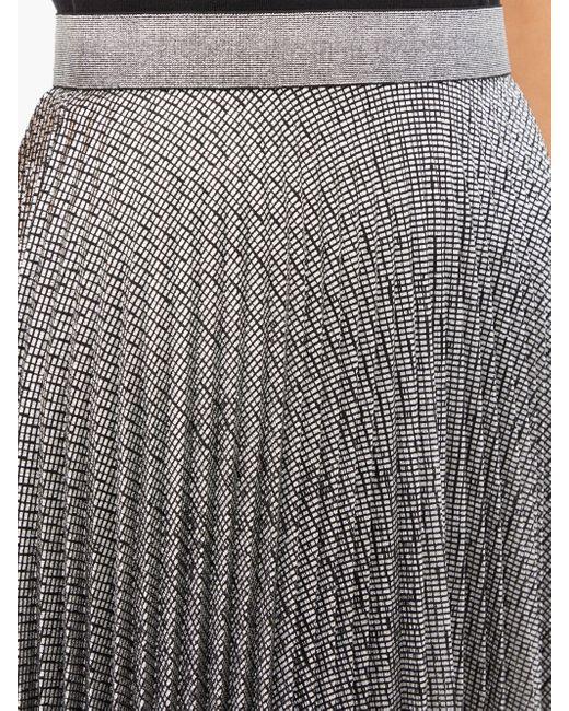 Christopher Kane Dna メタリックチュール プリーツミディスカート Multicolor