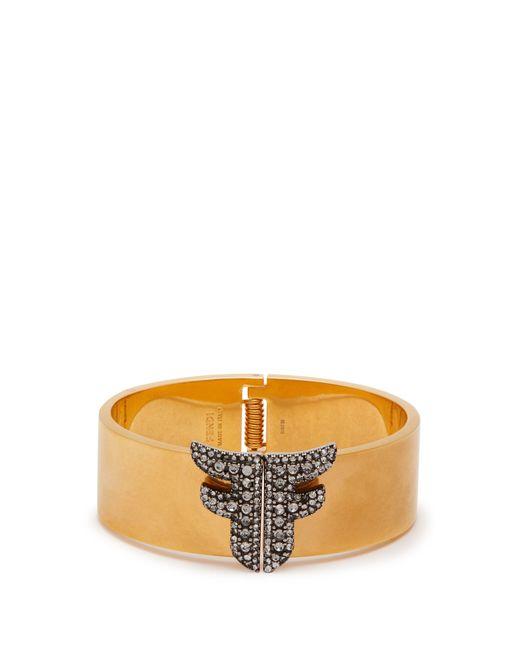 Fendi Metallic Ffreedom Crystal Embellished Cuff