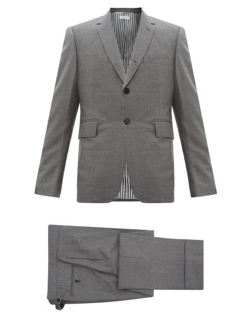 メンズ Thom Browne ウールツイル シングルスーツ Gray