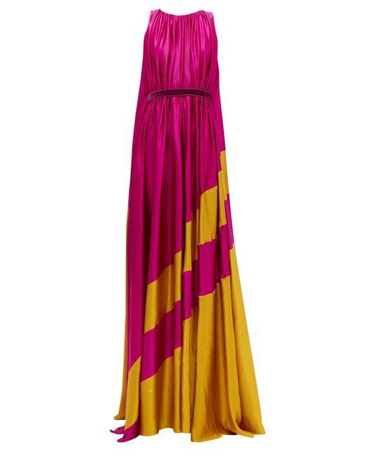 Roksanda Maluka シルクサテンドレス Multicolor