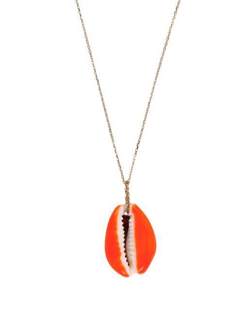 Aurelie Bidermann | Orange Merco Shell & Yellow-gold Necklace | Lyst