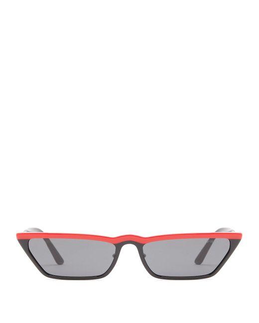 Prada - Black Cat Eye Acetate Sunglasses - Lyst