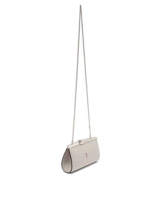 e285c648446 Women's Palmette Glittered Leather Clutch Bag