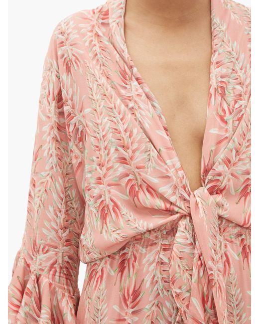 Adriana Degreas タイフロント ツイルドレス Pink