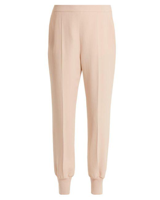 Stella McCartney - Natural Julia Crepe Trousers - Lyst