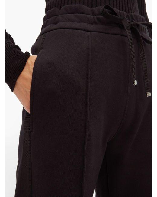 Moncler ピンタック コットンジャージーワイドパンツ Black