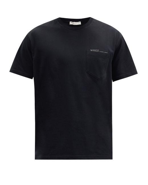メンズ Givenchy パッチポケット コットンtシャツ Black