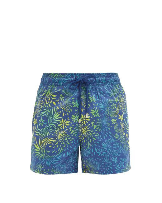 Vilebrequin Blue Floral-print Swim Shorts for men