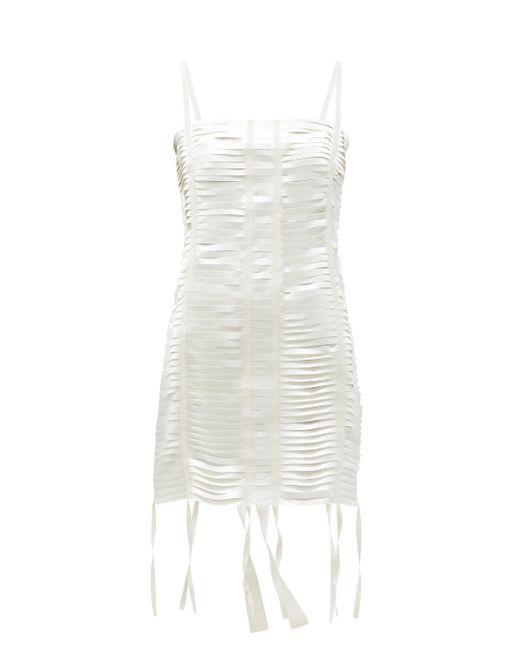 Givenchy カットアウト サテンミニドレス White