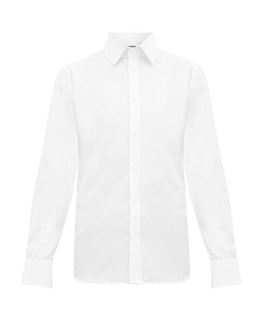 メンズ Gucci フレンチカフス コットンポプリンシャツ White