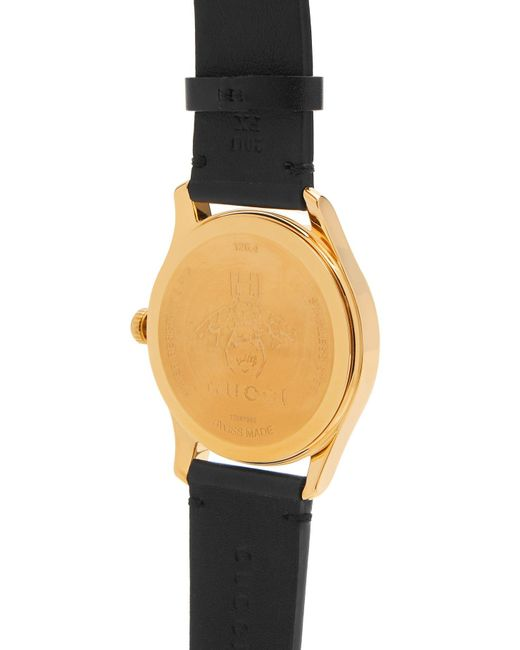 45628a828d0 ... Gucci - Black G Timeless Bee And Star Print Leather Watch for Men - Lyst  ...